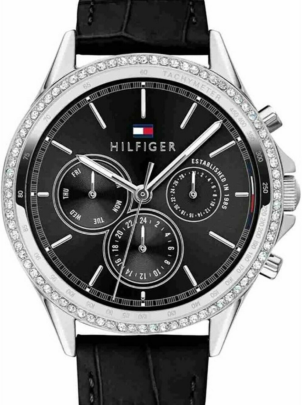 Tommy Hilfiger Ari Women Black Analog Watch Leather 1781981 $145