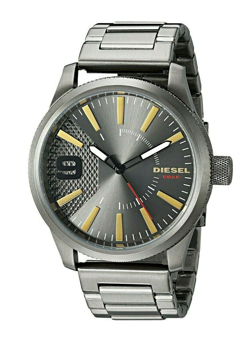 Diesel Rasp Gunmetal Stainless Steel Mens Watch DZ1762 $200