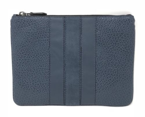 Coach F22499 Men's Denim Medium Pouch With Varsity Stripe $175