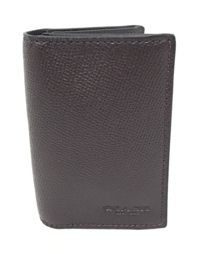 Coach Men's Oxblood Bifold Card Case Crossgrain Leather F86763 $95