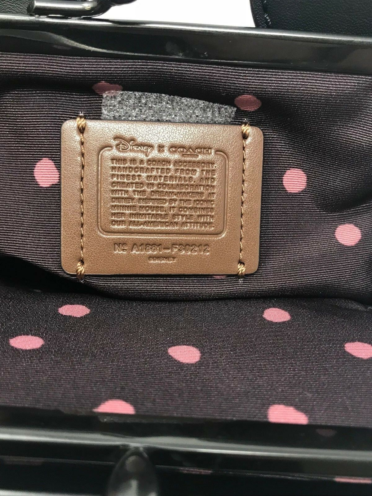 Coach F30212 Disney X Kisslock Wristlet Minnie Mouse Ears Limited Edition $275
