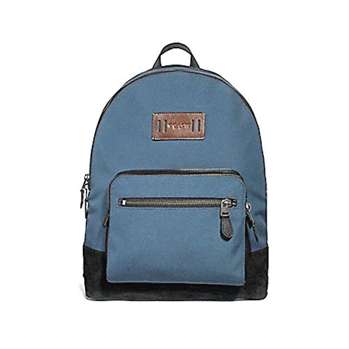 Coach F27609 West Cordura Backpack Leather Accents Denim Blue