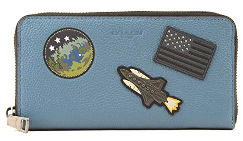 Coach Men's Accordion Zip River Wallet in Motif Mixed Nasa Patches, Style F30422