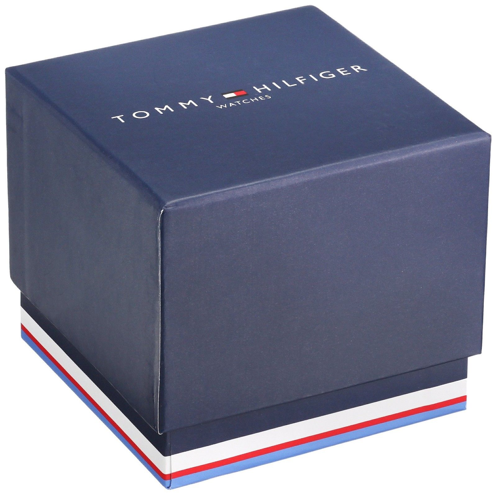 Tommy Hilfiger Mens Quartz Stainless Steel and Leather Casual Watch Blue 1791346 $155