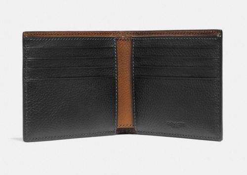 Coach Double Billfold 1941 NY House of Leather Black Men's Wallet F24647 $175