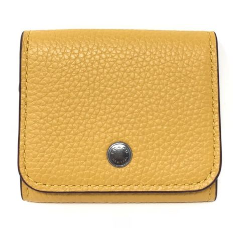 Coach Earbud Case Goldenrod Pebble Leather F25472 $75