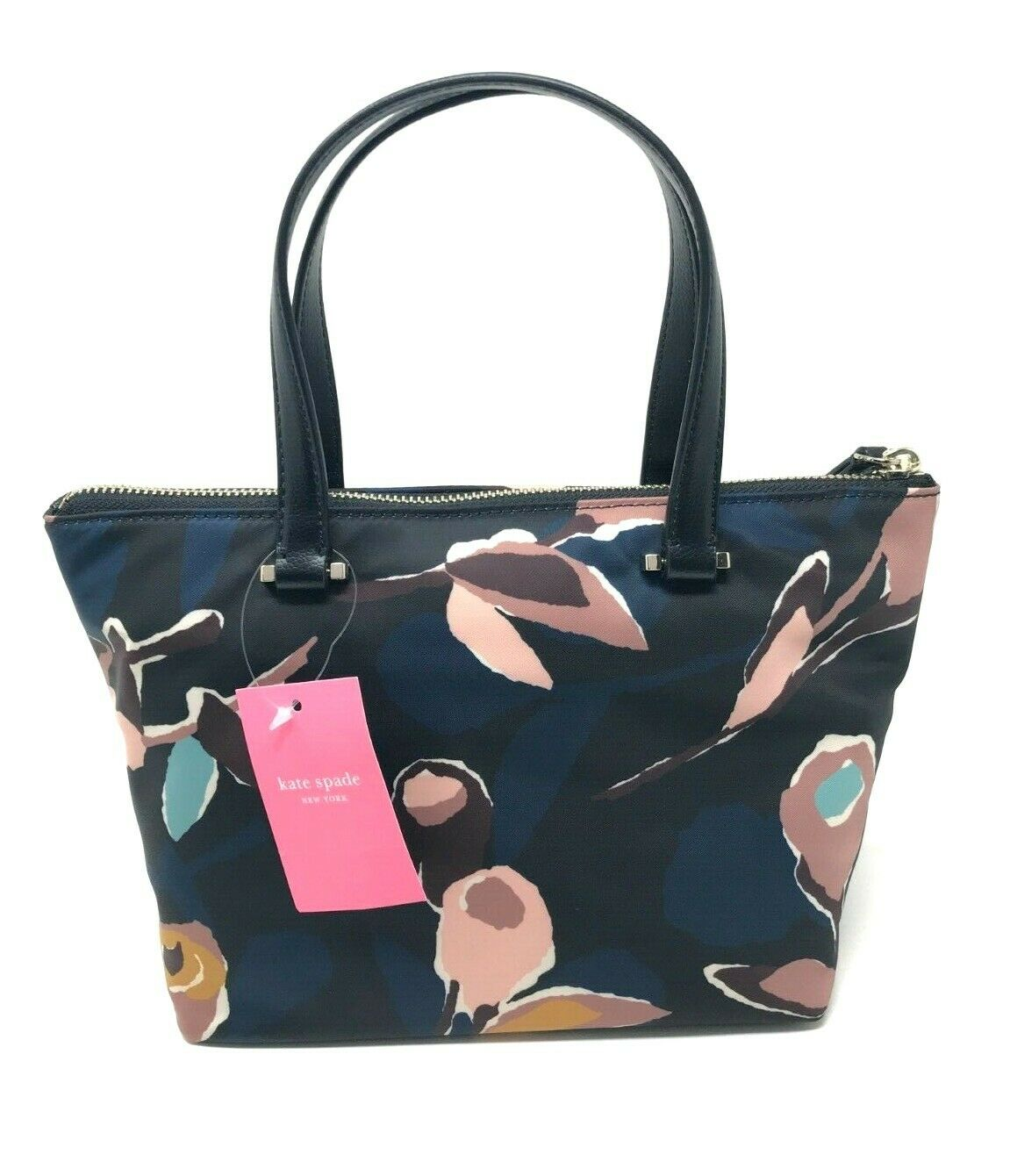 Kate Spade Insulated Tote Dawn Nylon Paper Rose Black Multi WKRU5996 $119