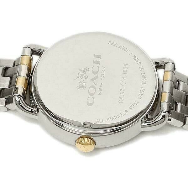Coach 14502263 Women's Delancy Two-toned Bracelet Watch 36mm