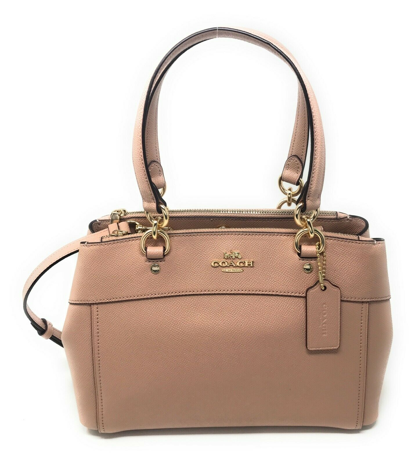 Coach F31251 Mini Brooke Carryall Satchel Handbag Purse Bag Glitter Nude $375