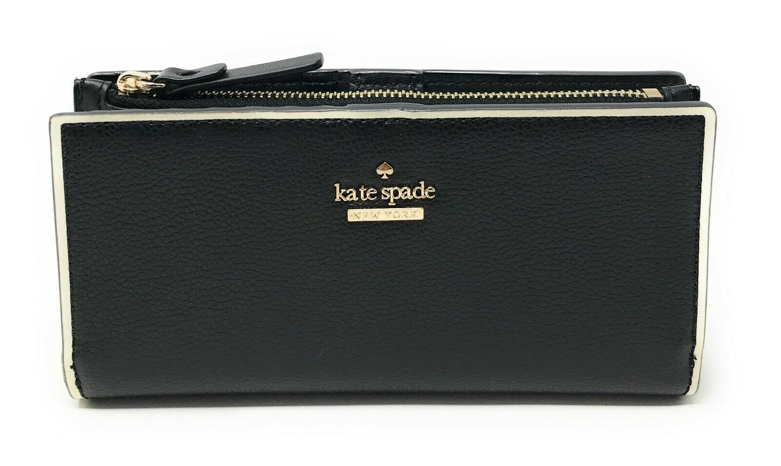 Kate Spade Braylon Patterson Drive Painted Edge Leather Wallet WLRU5392 $139