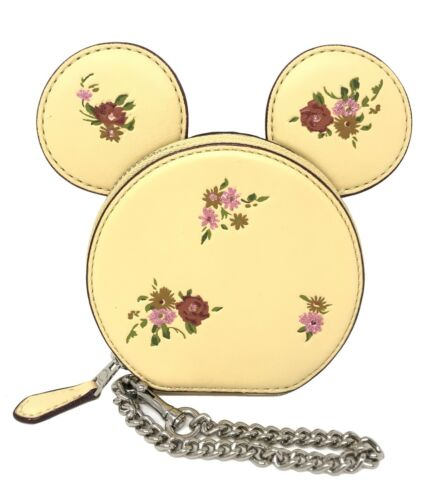 Coach Minnie Mouse Dusty Rose Coin Case Vanilla Multi Limited Edition F29365 $199