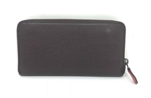 Coach F23647 Accordion Wallet With Dice Motif Oxblood Pebble Leather $295
