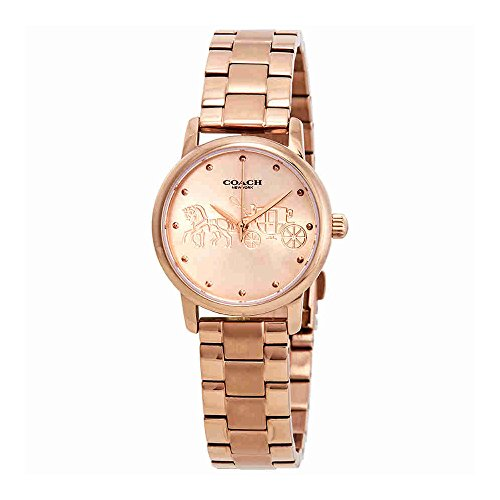 14502977 Coach Grand Ladies Analog Rose Gold Business Quartz Coach
