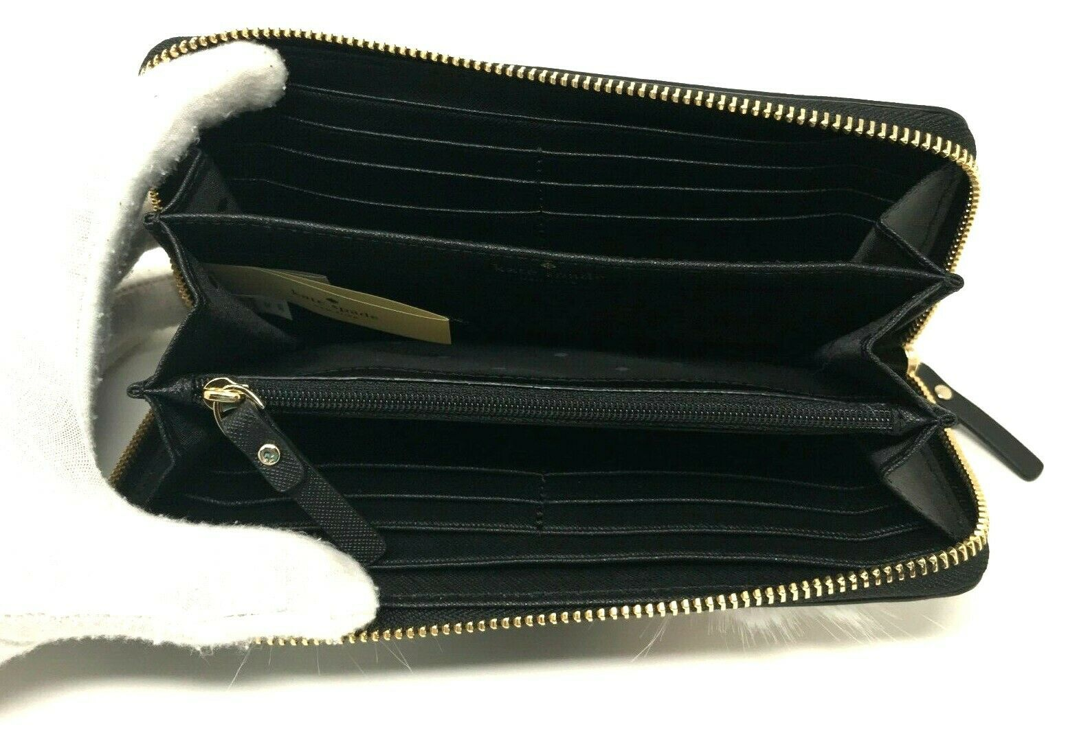 Kate Spade Dashing Beauty Penguin Lacey Black Leather Wallet PWRU7009 $198