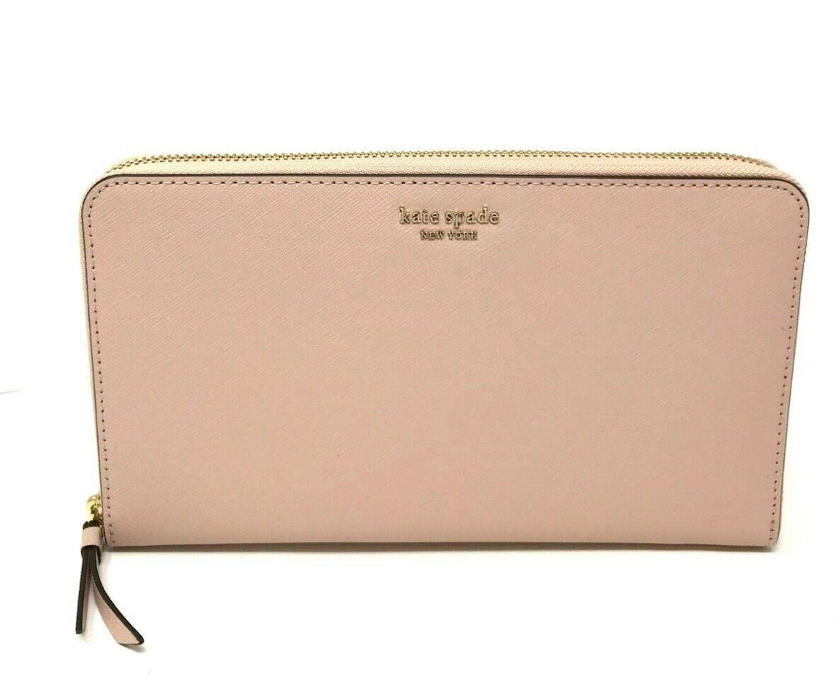 Kate Spade Cameron Large Travel Wallet Leather Organizer Warm Vellum WLRU5442