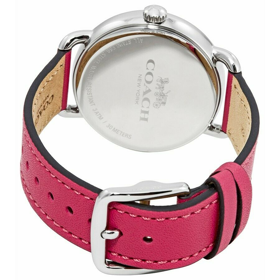 Coach Delancey Ladies Analog Casual Leather Red Band 14502879 $275