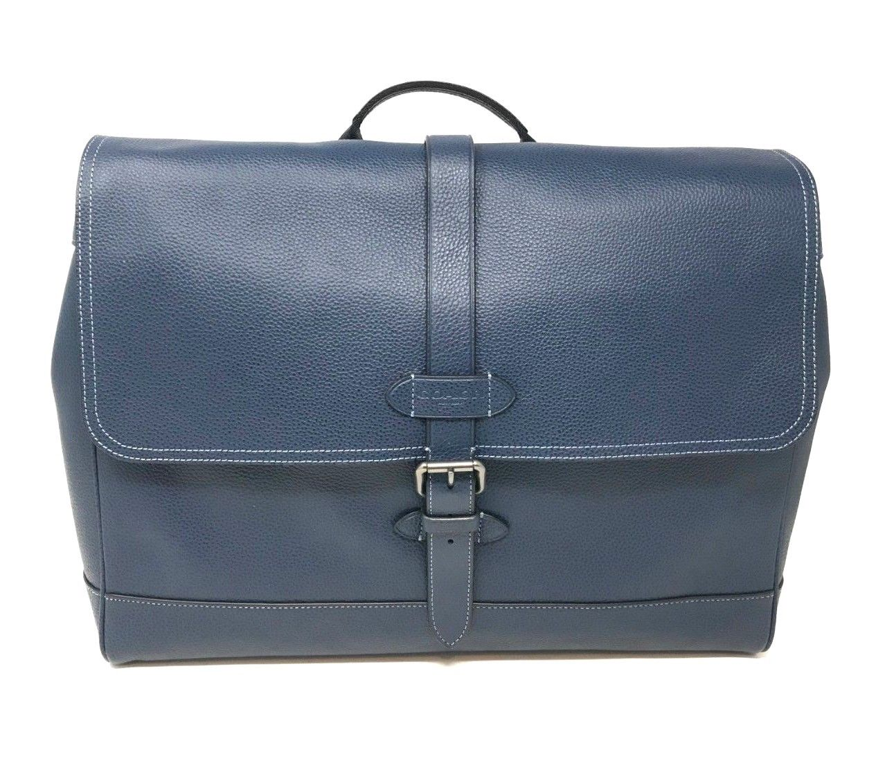 Coach Men's Hudson Messenger Bag In Midnight Navy Natural Leather F36810 $595