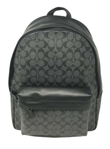 Coach F55398 Men's Charles Backpack In Signature Charcoal Black $495