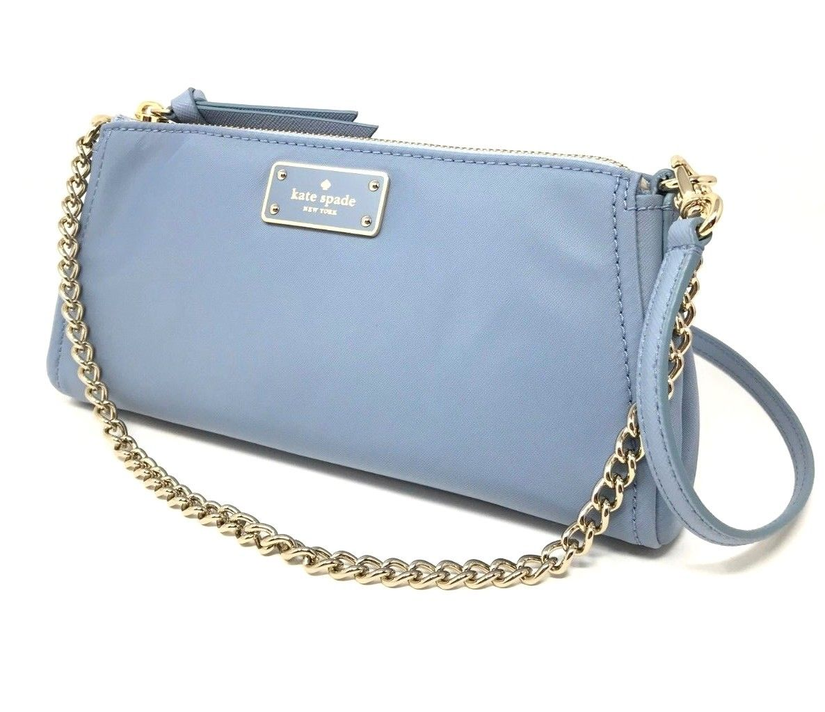 Kate Spade Jane Wilson Road Nylon Crossbody Cloud Cover Blue WKRU5398 $199