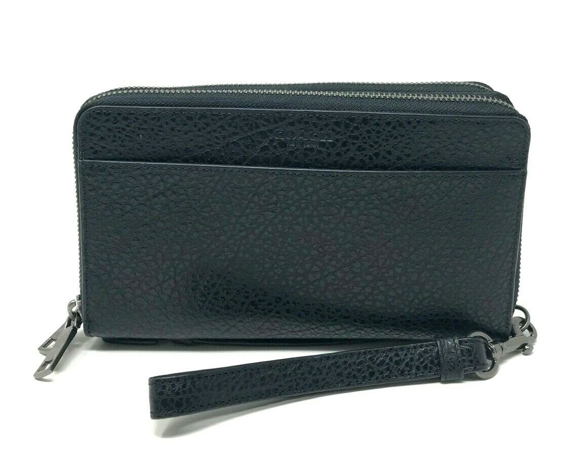 Coach Men's Double Zip Travel Organizer Wallet Wristlet Black F67624 $328