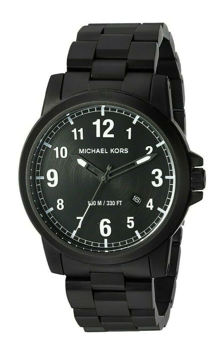 Michael Kors Paxton Black Dial Black IP Stainless Steel Men's Watch MK8532 $225