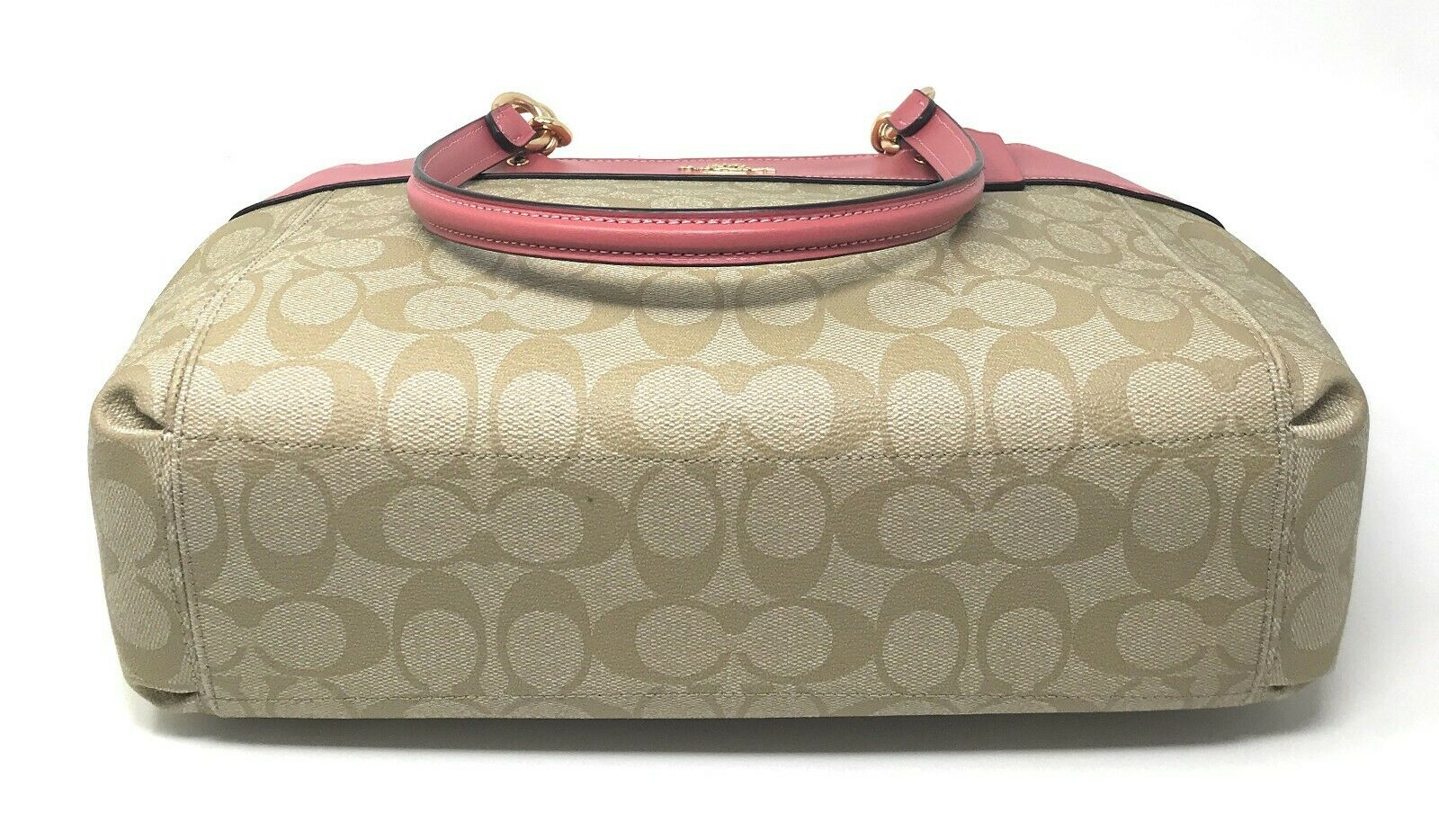 Coach F25396 Brooke Carryall Satchel Crossbody Signature Canvas Khaki Peony
