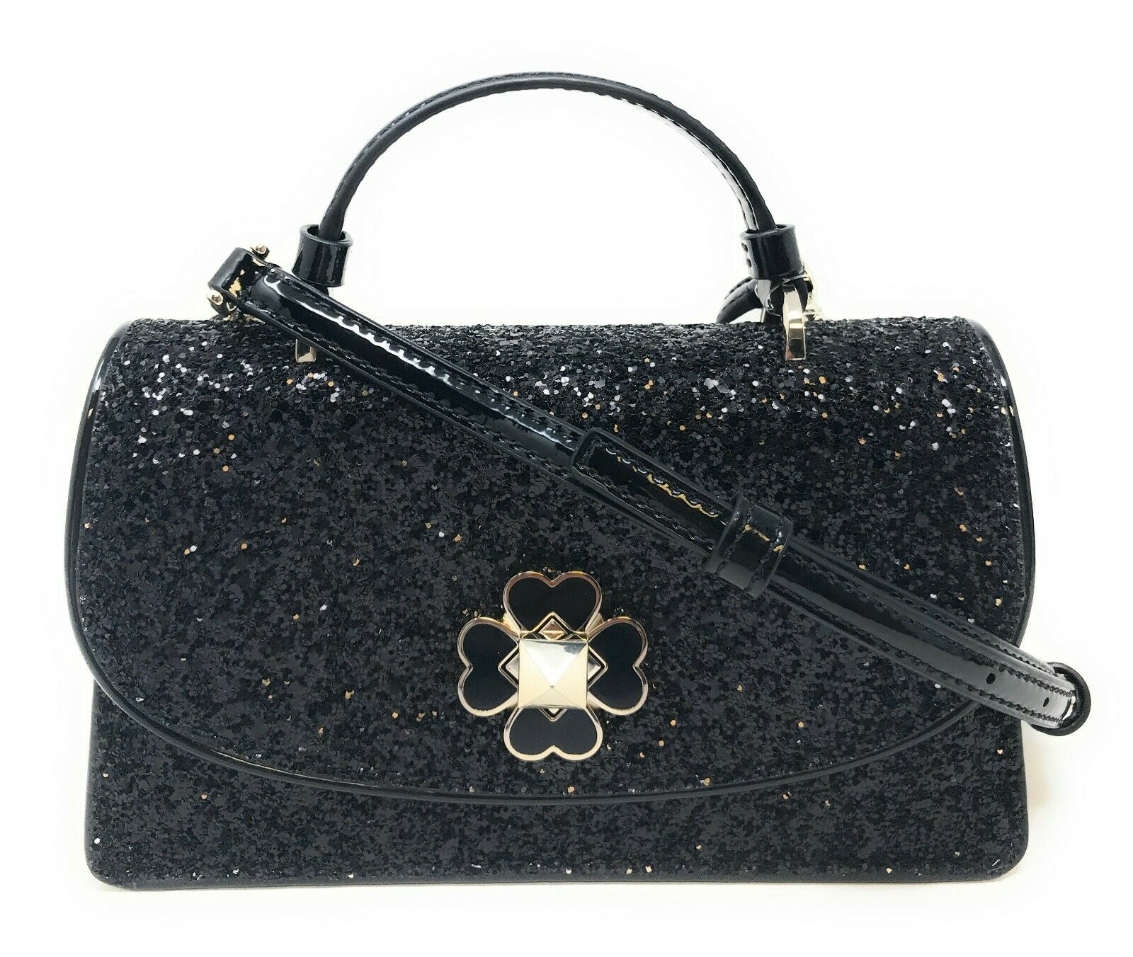 Kate Spade Adette Glitter Mini Top Handle Crossbody Bag Mini Satchel WKRU6366