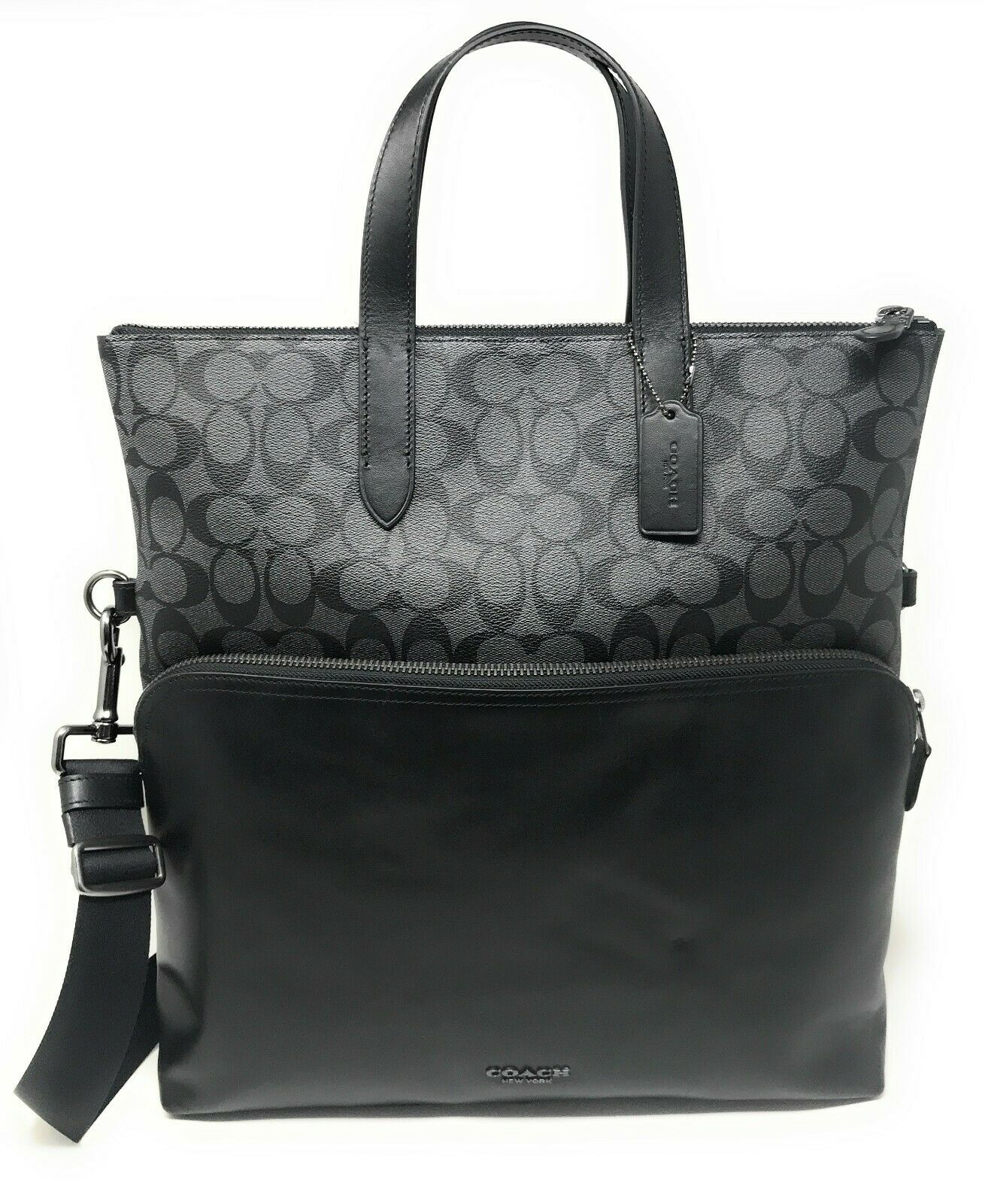 Coach Men's F50712 F72528 Mens Graham Lethear Fold Over Tote $550
