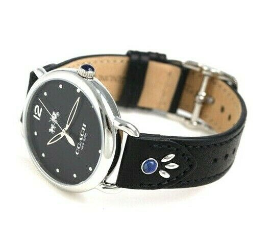 Coach Delancey Ladies Analog Casual Black Leather Band 14502738 $275