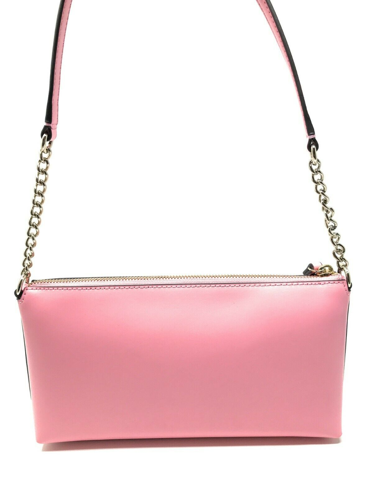 Kate Spade Declan Weller Street Pink Bright Carnation Leather Chain Crossbody