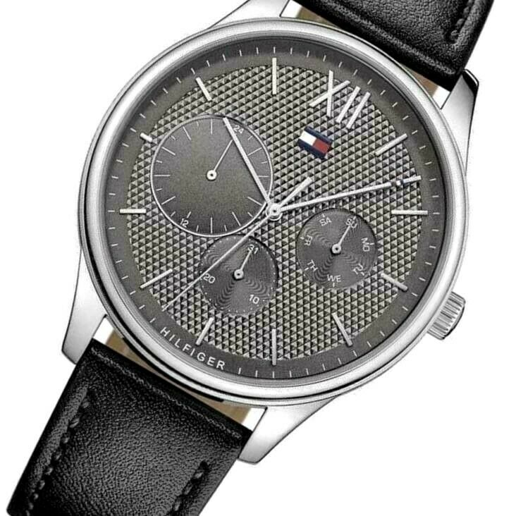 Tommy Hilfiger Men's Watch Black leather Columbus 1791417 $135