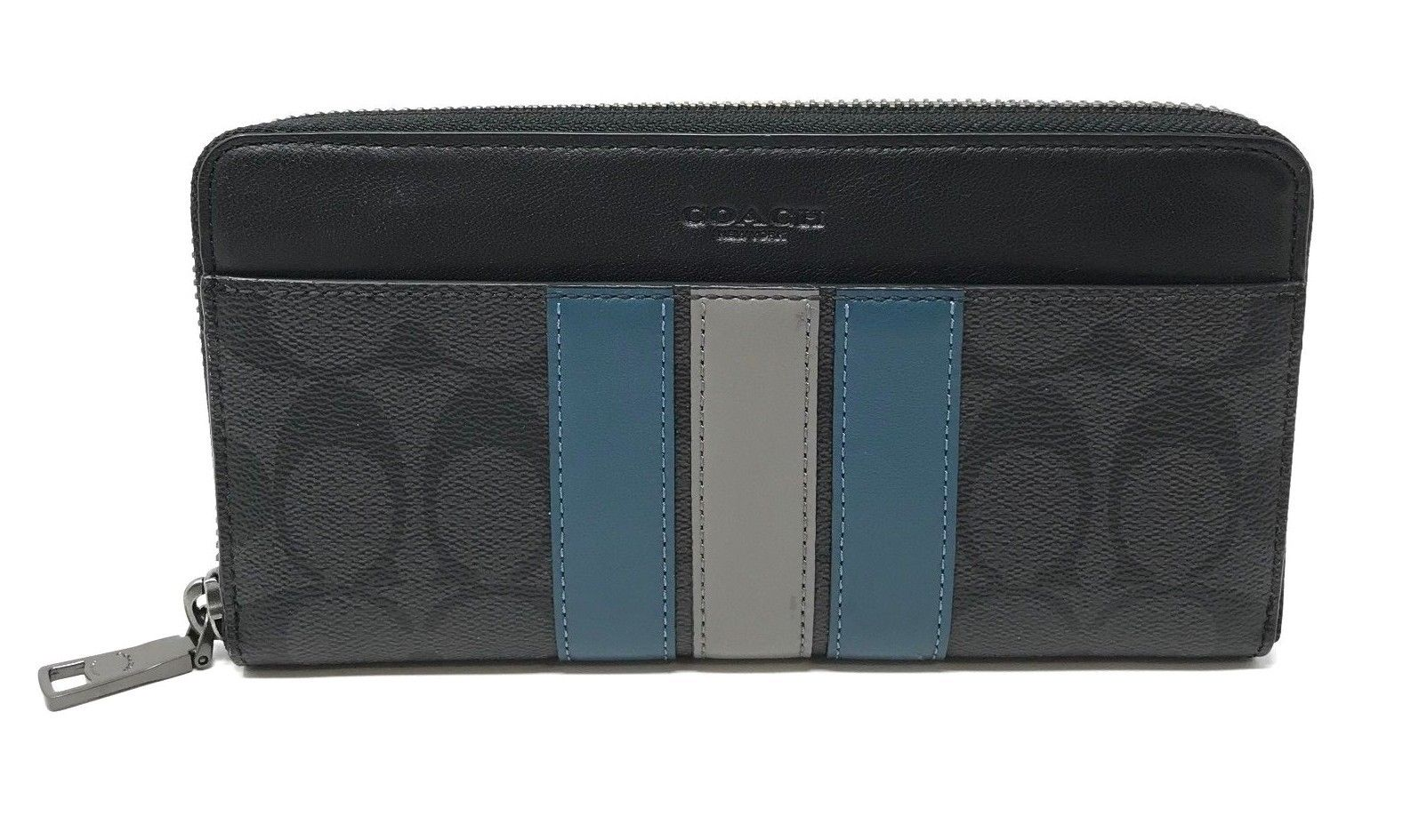 Coach Men's Boxed Accordion Wallet Gift Set Signature Varsity Stripe F37943 $295