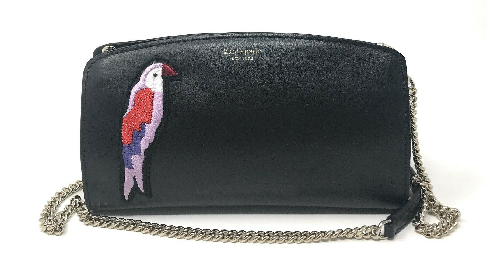 Kate Spade Beaded Flock Party East West Crossbody Parrot Leather Chain PWRU7287