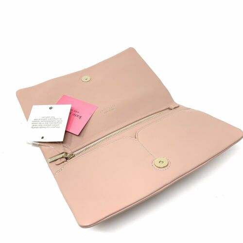 Kate Spade Clutch Enid Flapper Pink Lambskin Leather PWRU7125