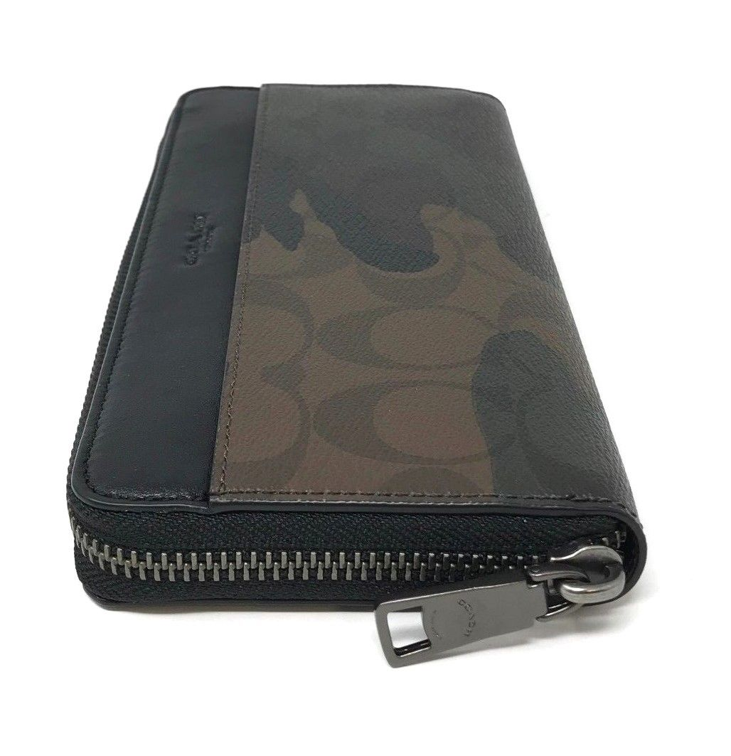 Coach Men's Boxed Accordion Wallet Gift Set In Signature Canvas Camo F37883 $295