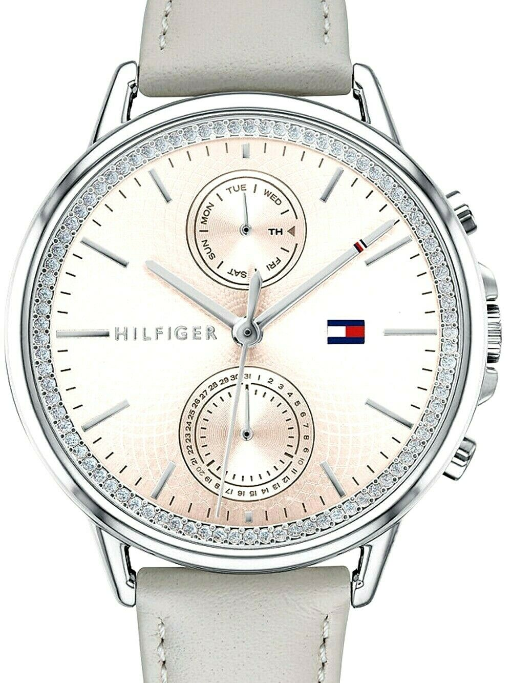 Tommy Hilfiger Ladies Analog Casual Quartz Tommy Hilfiger Grey Carly 1781914