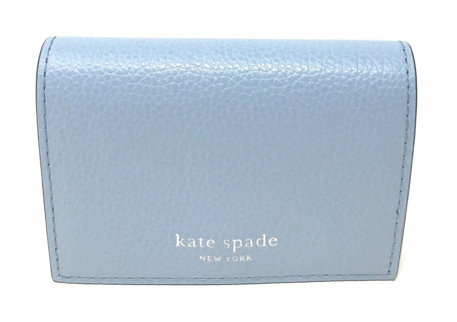Kate Spade Eva Accordion Blue Dawn Blazer Card Case Small Wallet WLRU5235 $89