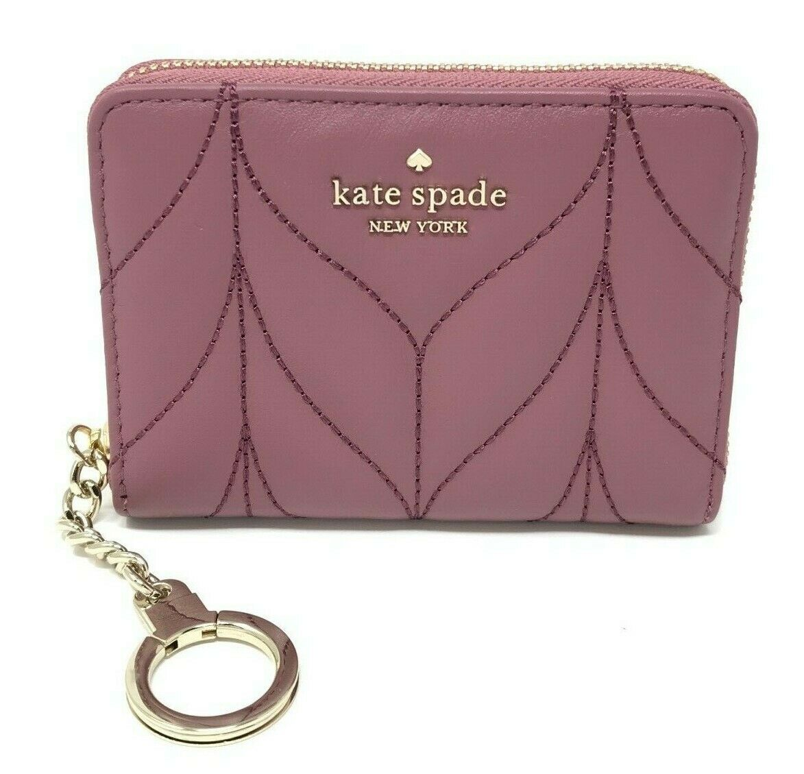 Kate Spade Dani Briar Lane Quilted Plum Berry Zip Around Wallet WLRU5307 $129
