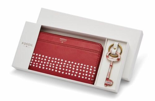 Fossil Brenna Zip Clutch And Keyfob Gift Set Women's Wallet (Choose Style) $98