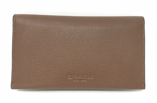 Coach Men's Universal Phone Case In Dark Saddle Sport Calf Leather F63646 $125