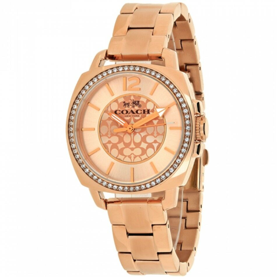 Coach Boyfriend Logo Stainless Steel Rose Gold Women's Watch 14503142 $275