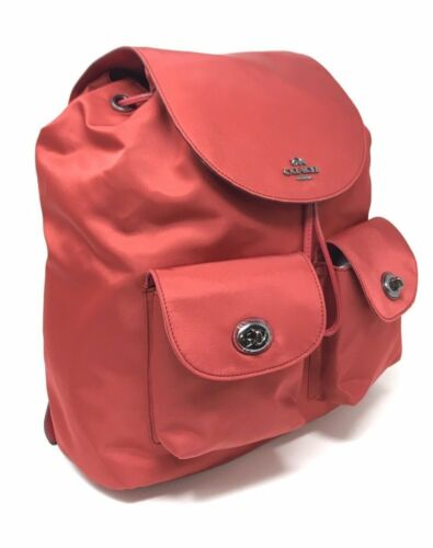 Coach F58814 Nylon Backpack Bookbag True Red Billie Charlie Charles $375