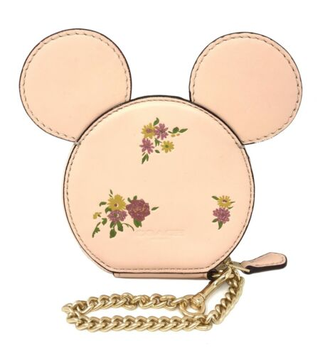 Coach Minnie Mouse Dusty Rose Coin Case Vintage Pink Limited Edition F29365 $199