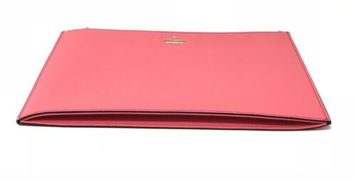 Kate Spade Cameron Street Lilia Leather Clutch Bag Bright Flam PWRU6203 $98