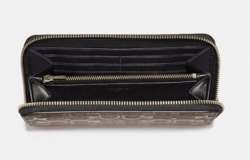 Coach Men's Accordion Signature Wallet Saddle In Crossgrain Leather F24667 $275