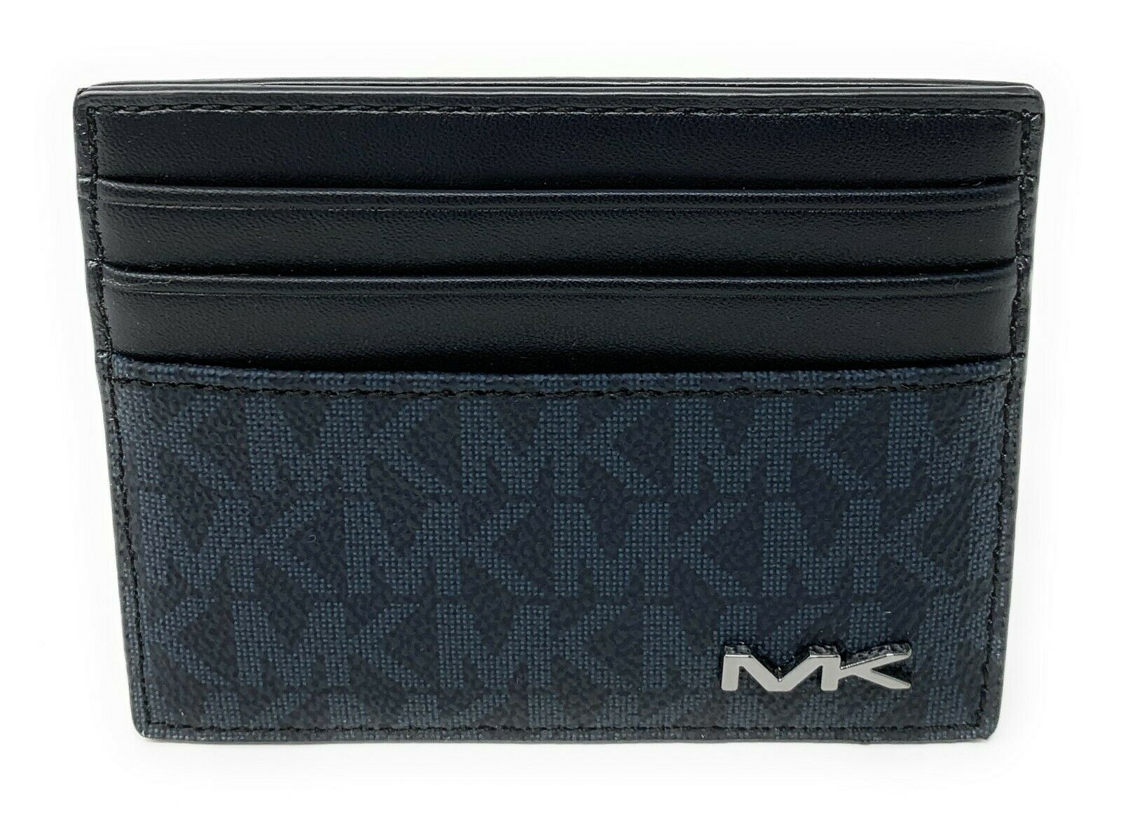 Michael Kors Jet Set Cooper Men's Tall Card Case Baltic Blue MK Signature