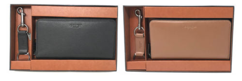 Coach F58928 Sport Calf Leather Wallet Two Piece Gift Set with Key Fob $295