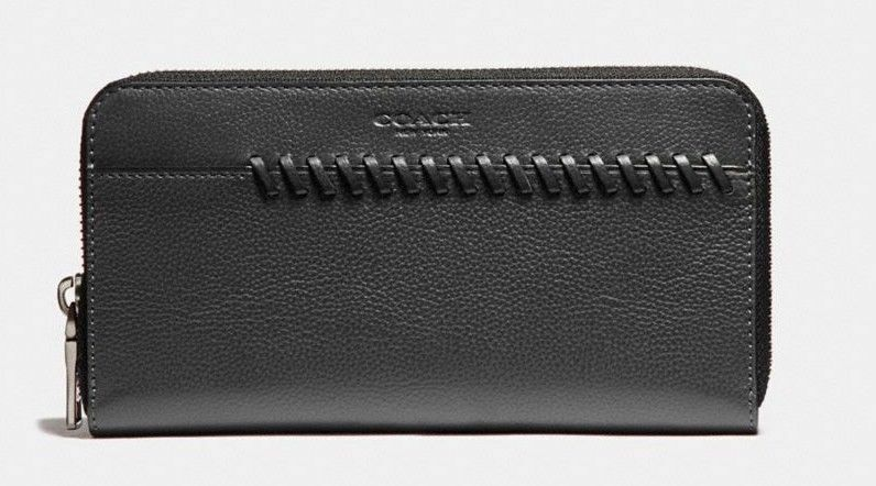 Coach F21369 Men's Accordion Wallet With Baseball Stitch (Select Color) $275
