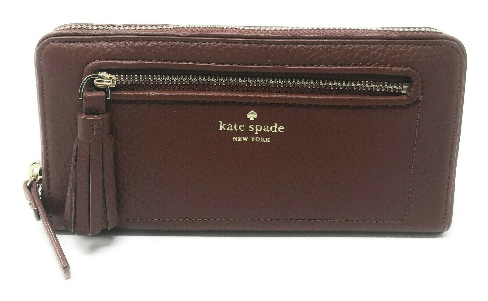 Kate Spade Chester Street Neda Port Brown Zip Around Wallet WLRU2654 $189