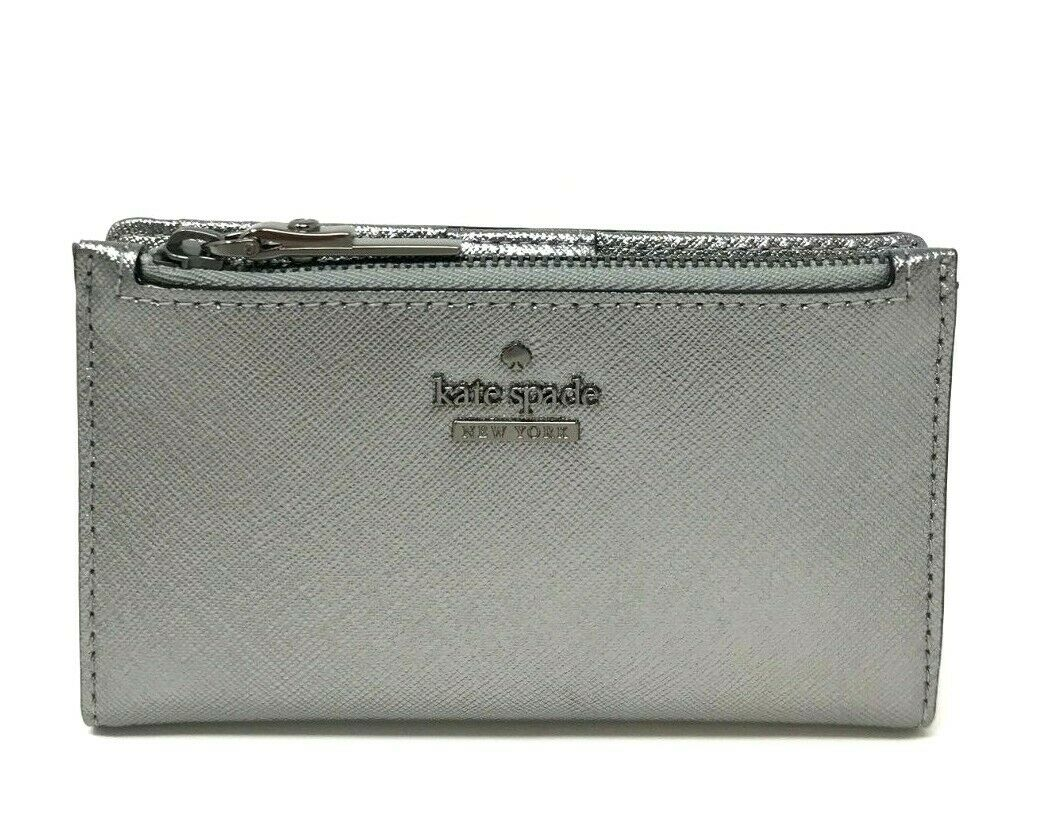 Kate Spade Cameron Street Mikey Anthracite Leather Small Wallet PWRU6720 $88